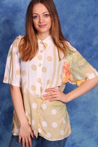 Vintage wzorzysta koszula z...