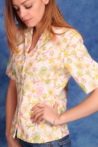 Vintage cotton short sleeve...