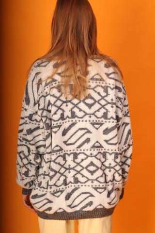 Vintage wzorzysty sweter...