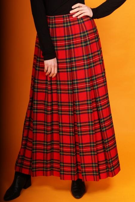 Vintage wełnana spódnica w...
