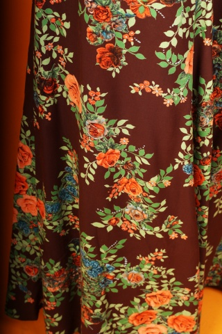 Vintage spódnica maxi w...