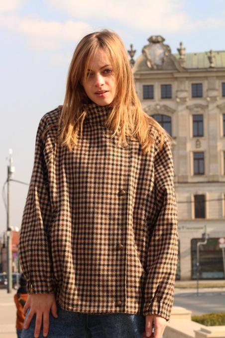 Vintage wełniana kurtka w...