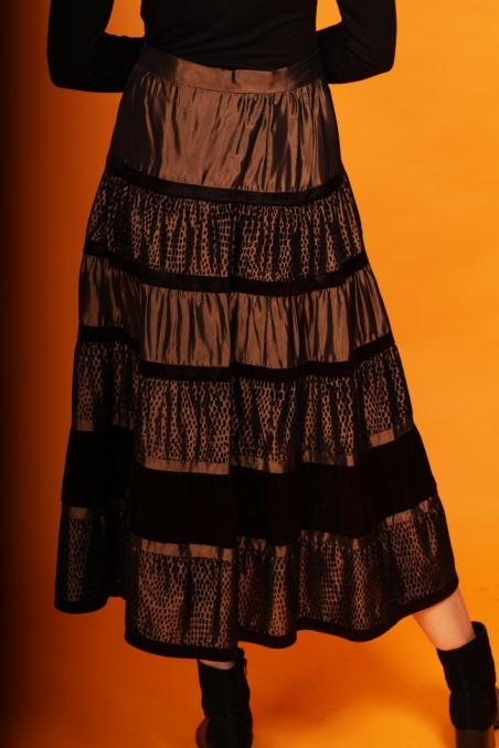 Vintage metaliczna spódnica...