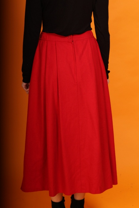 Vintage wełniana czerwona...