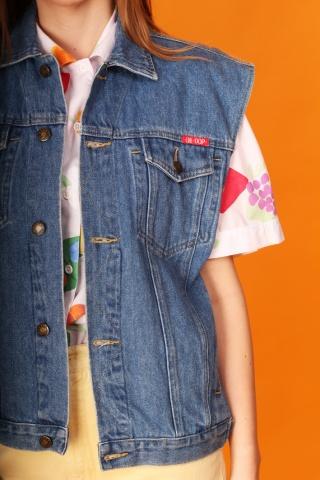 Vintage jeansowa niebieska...