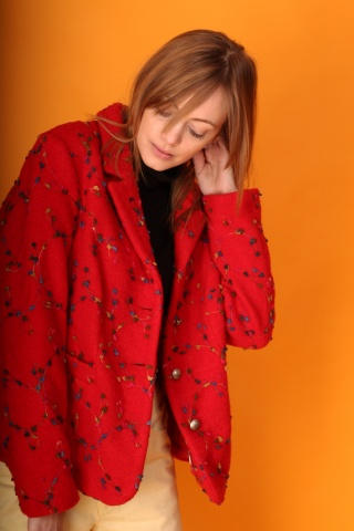 Vintage red woolen jacket...