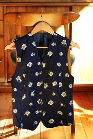 Vintage navy cotton vest...