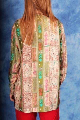 Vintage jedwabna koszula  w...