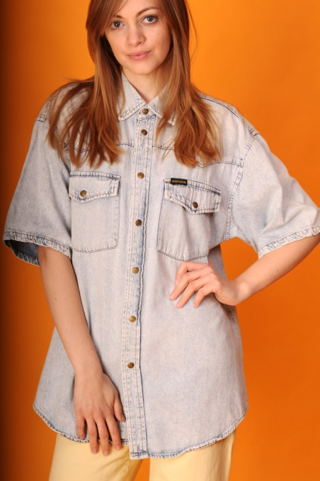 Vintage jasna jeansowa...