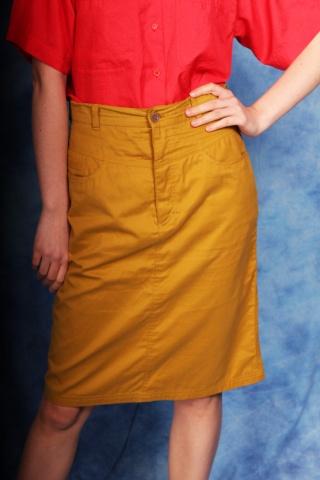 Vintage mustard yellow...