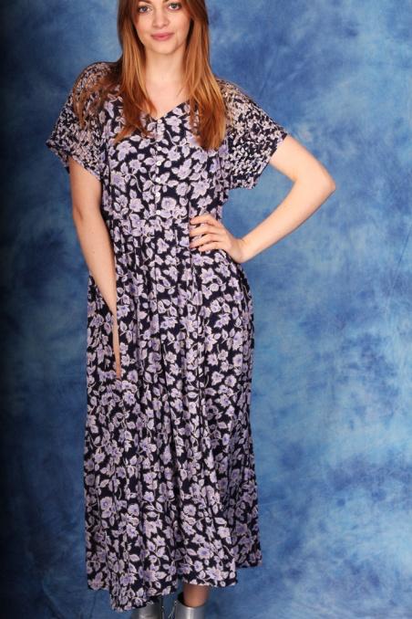 Vintage sukienka z wiskozy...