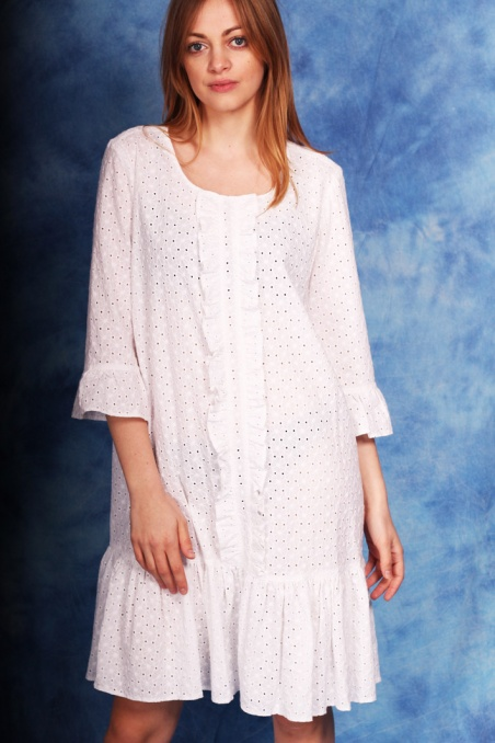 Vintage bawełniana biała...