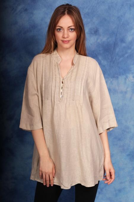 Vintage lniana bluzka...