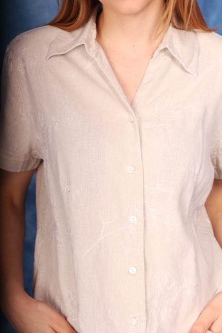Vintage lniana bluzka z...