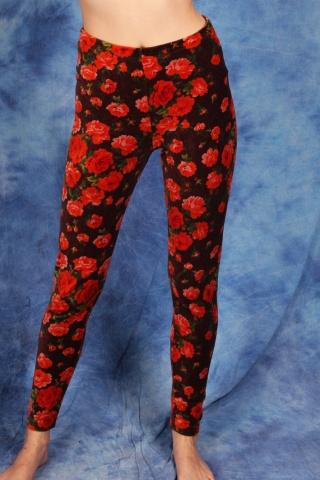 Vintage welurowe legginsy...