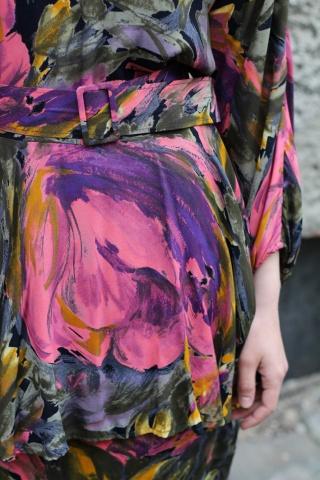 Vintage sukienka w kolorowy...