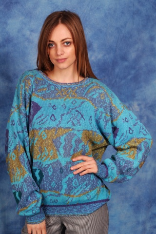 Vintage bawełniany sweterek...
