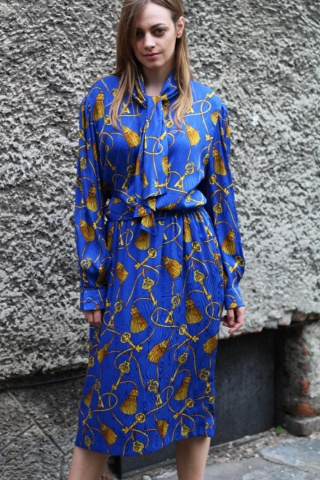 Vintage jedwabna sukienka...