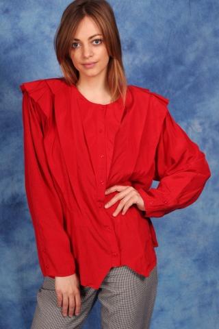 Vintage czerwona koszula z...