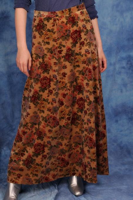 Vintage aksamitna spódnica...