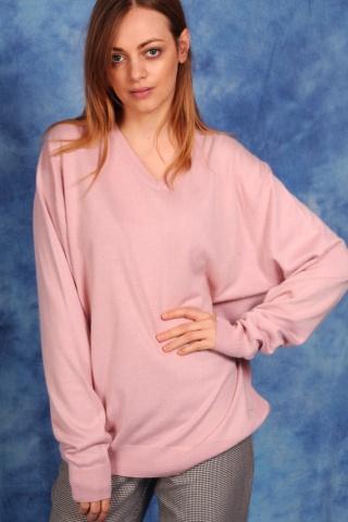 Vintage jasnoróżowy sweter...