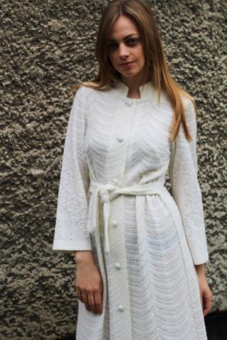 Vintage biała sukienka maxi...