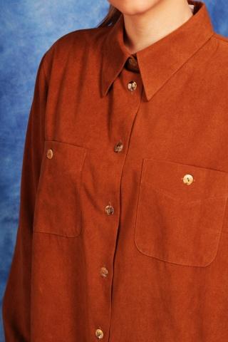 Vintage brązowa koszula...