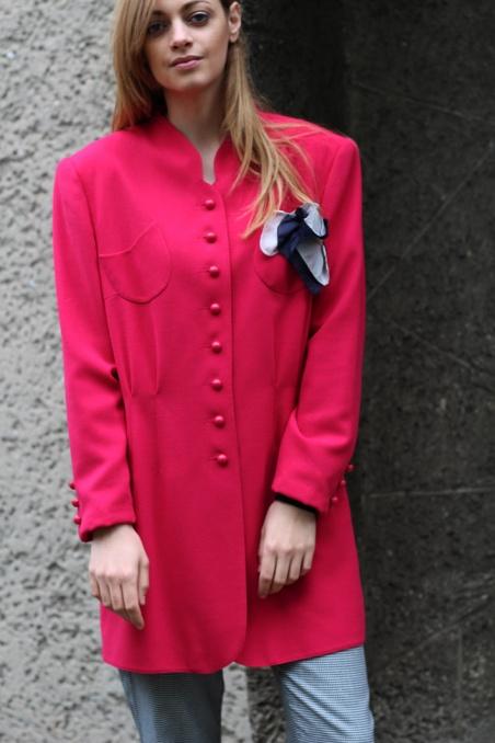 Vintage długa różowa...