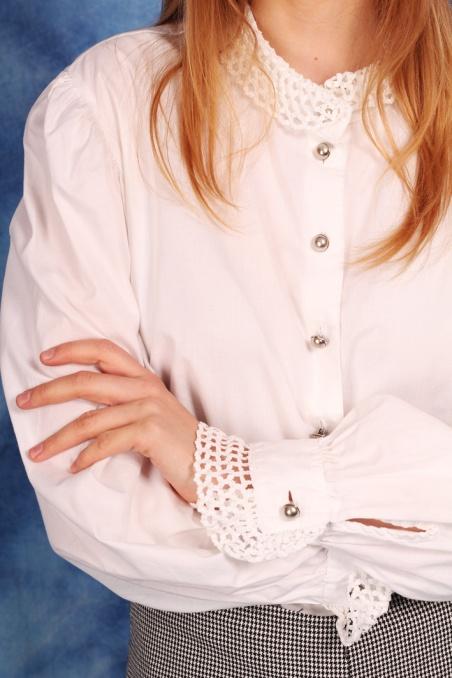 Vintage biała bawełniana...
