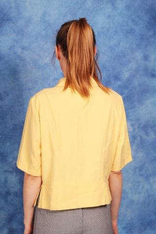 Vintage pastelowy żółty top...