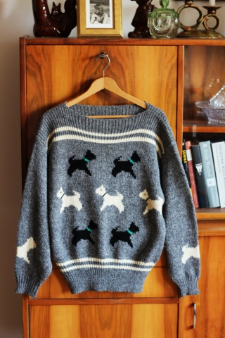 Vintage wełniany sweterek w...