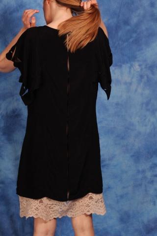 Vintage jedwabna sukienka z...