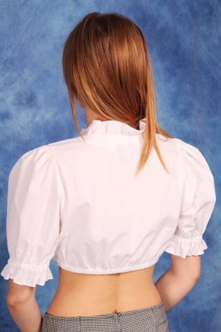 Vintage biały bawełniany...