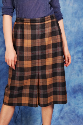 Vintage wełniana spódnica w...