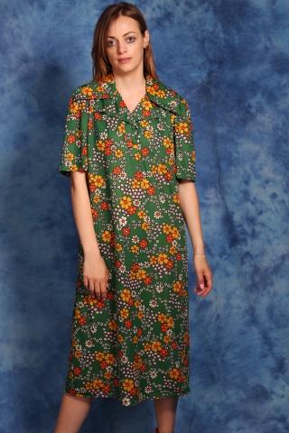 Vintage zielona sukienka w...