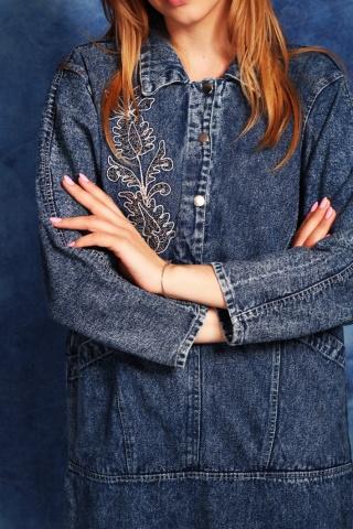 Vintage unikatowa jeansowa...