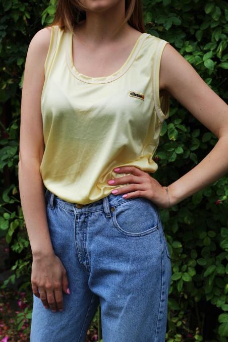 Vintage pastelowo żółty top...