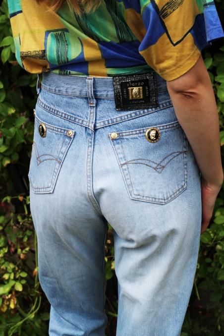 Vintage oldschoolowe jeansy...