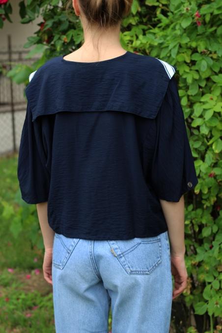 Vintage piękna bluzka w...
