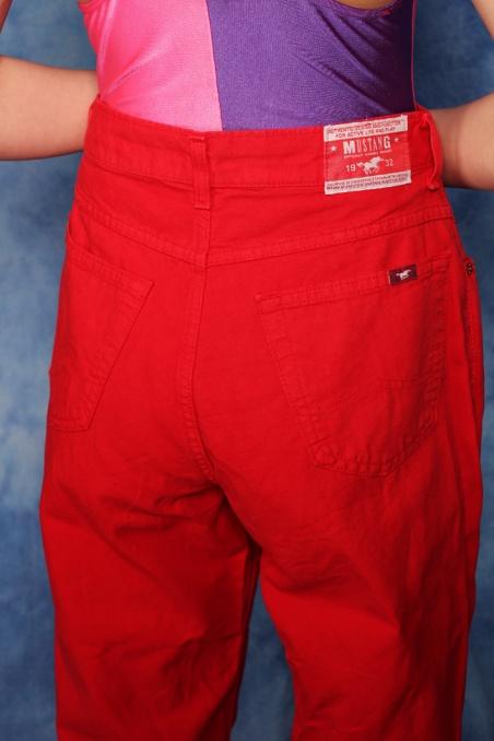 Vintage czerwony jeansy...