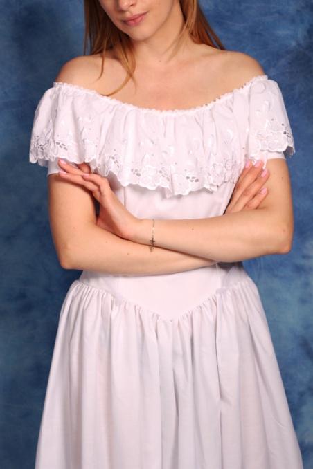 Vintage biała sukienka z...