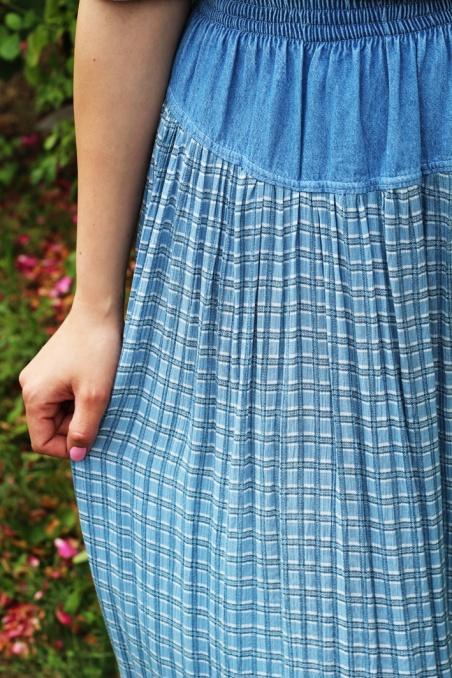 Vintage długa spódnica z...
