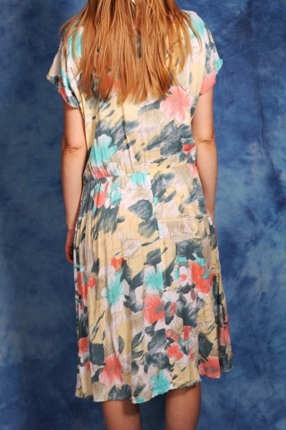 Vintage kwiecista sukienka...