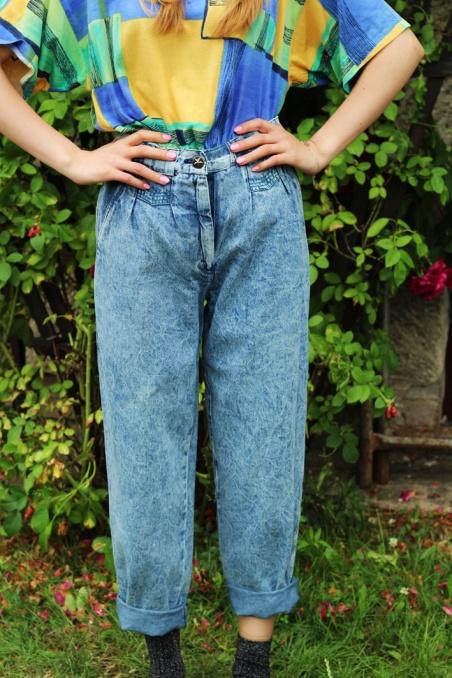 Vintage niebieskie spodnie...