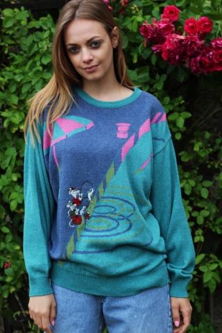 Vintage kolorowy sweterek z...
