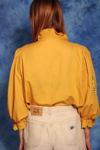 Vintage miodowa koszula w...