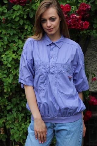 Vintage bawełniana liliowa...
