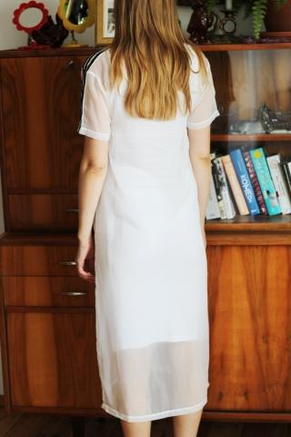 Vintage dwuwarstwowa biała...