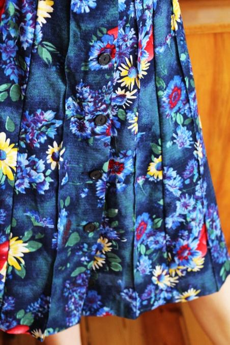 Vintage spódnica w kolorowy...