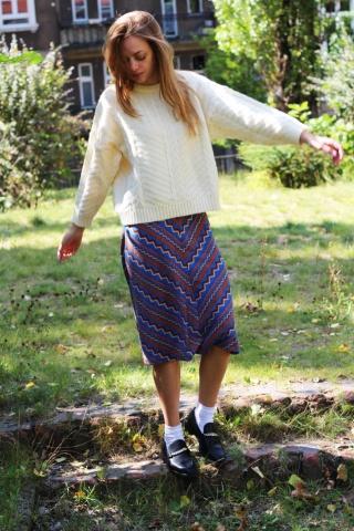 Vintage wzorzysta spódnica...